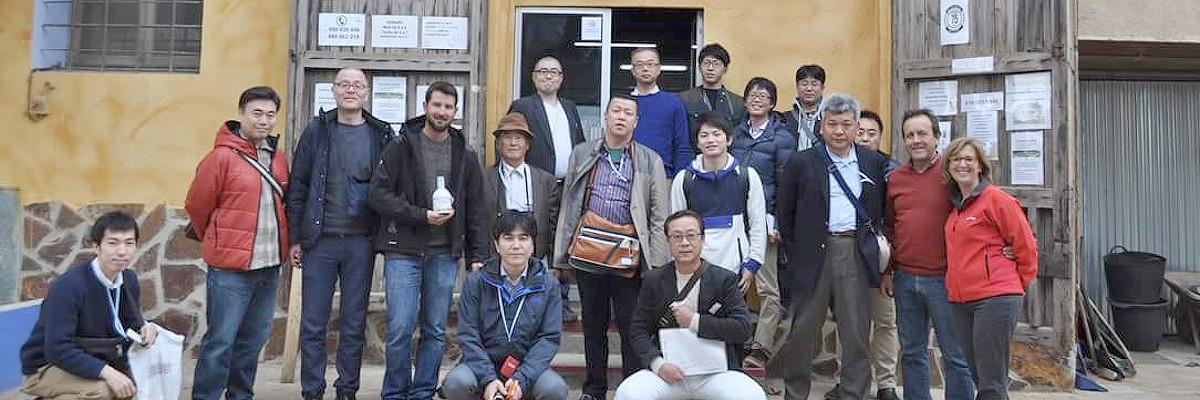 Un grup d'agrònoms del Japó ens visita